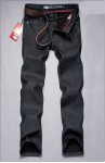 Levis  經典黑色 加绒加厚保暖直筒牛仔裤  男款