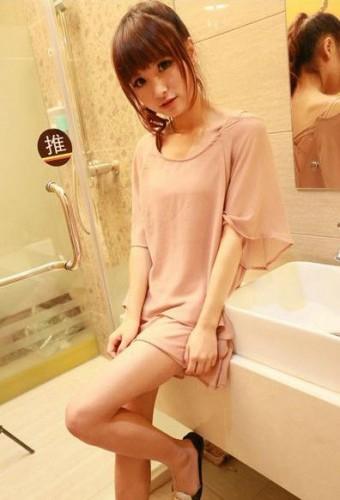 2013春裝新款 寬鬆假兩件套韓版雪紡衫修身連衣裙