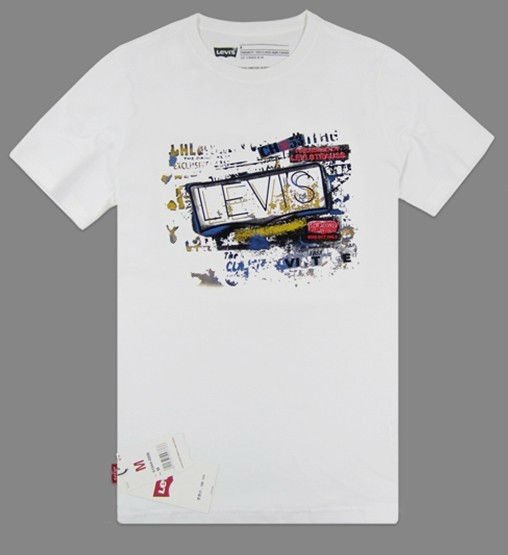 2013夏款 李維斯Levi's正品男士圓領純棉印花休閒短袖