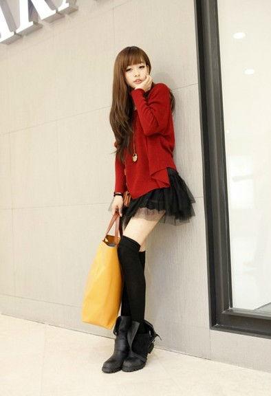 2013春裝連衣裙 韓版淑女甜美兩件套蝙蝠袖寬鬆連衣裙子