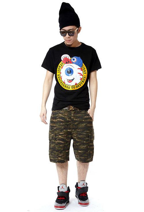 ZIPPER MISHKA 男款 眼球短袖T恤