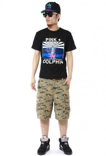 2013新款 pink dolphin 情侶款 印花圓領T恤