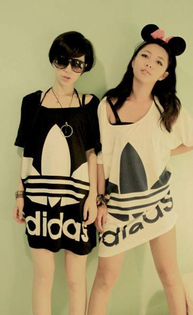 2013夏裝新款 自製姊妹款ADIDAS寬鬆大T恤