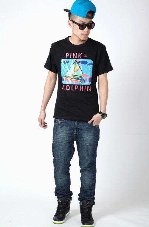 SOULJA BOY 同款 嘻哈風格 休閒pink dolphin短袖T恤