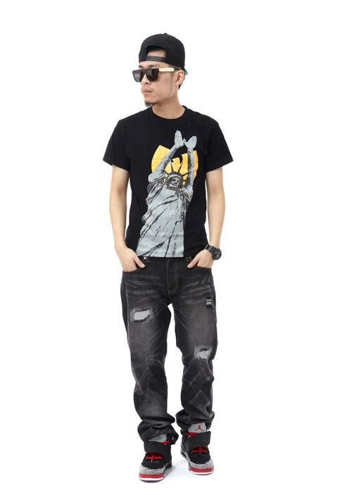 WU TANG 自由女神 印花短袖T恤